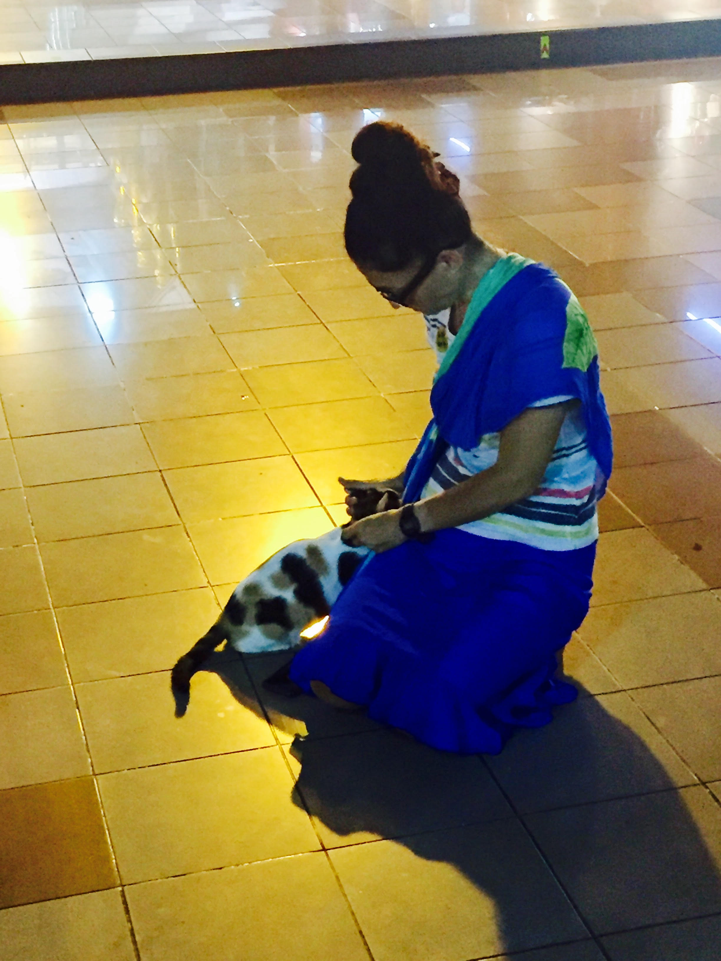 Wendy with cat at temple.jpg