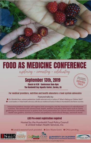 Link https://www.eventbrite.com/e/food-as-medicine-conference-tickets-68297370273