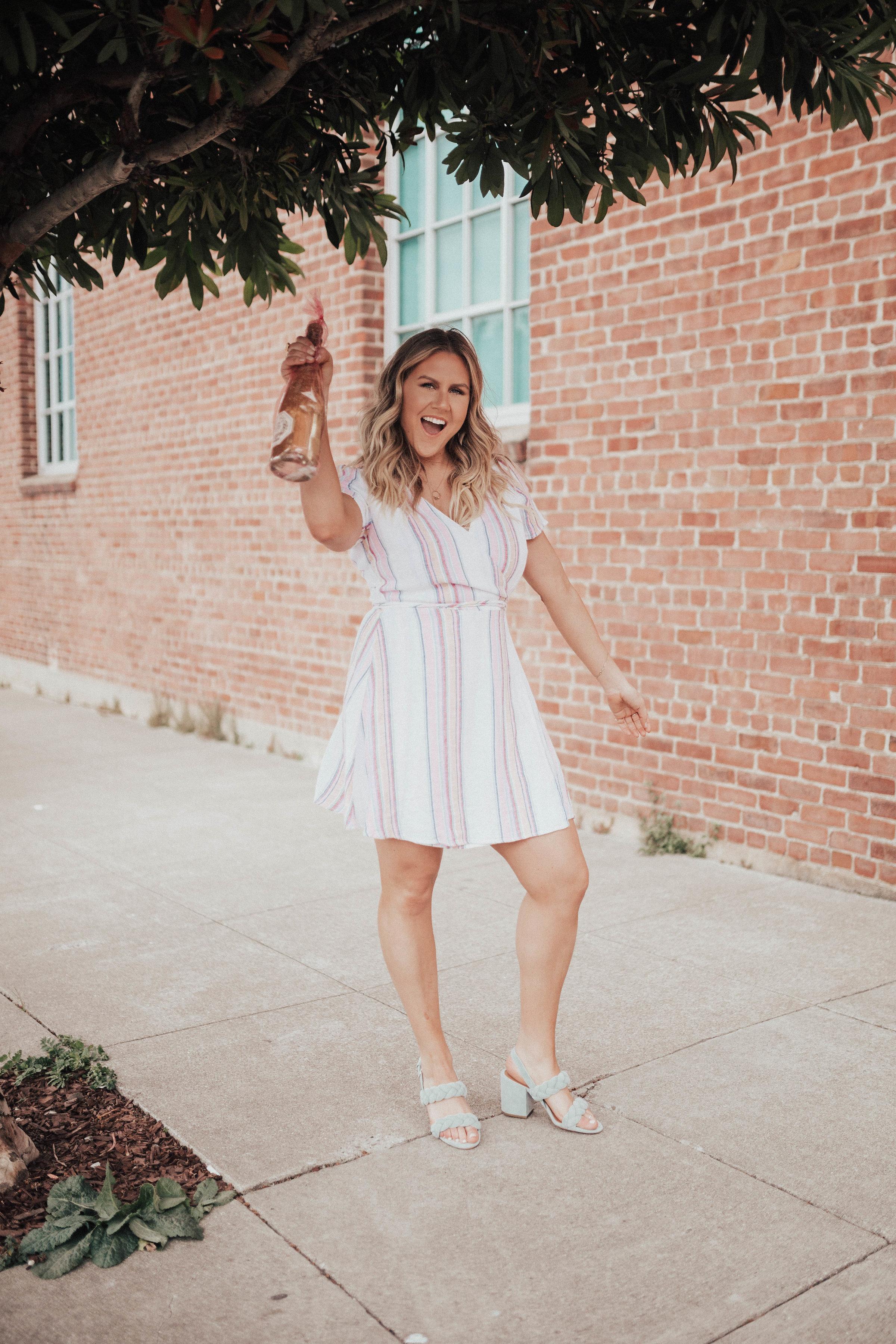 via Thea Forever21 Dress, Rebecca Minkoff heels, Sophia Sparkling Wine