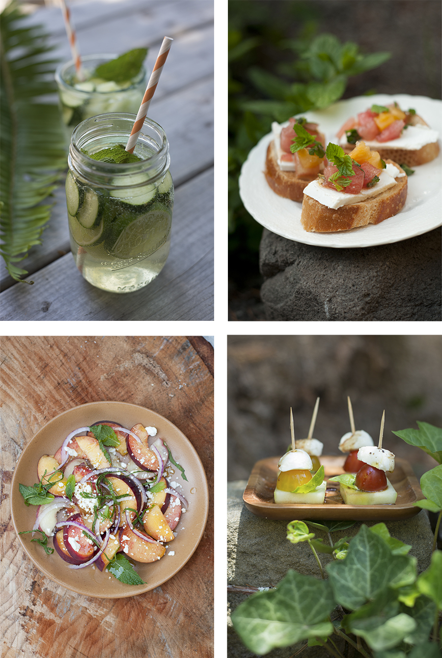 It's officially SUMMER! Out here in the woods, we are gearing up for some outdoor entertaining. Here are some Forest Feast favorites from summers past to get you going with your summer menu planning:    Cucumber Sangria      Watermelon Bruschetta      Peach Salad      Cucumber Caprese Bites    ALSO! There are a few more California Forest Feast cookbook events coming up in the Bay Area:  Tonight! June 25th in Santa Cruz,  7pm Bookshop Santa Cruz   Tomorrow! June 26th In Oakland,  6-8pm at Umami Mart   July 14th: A special dinner event at  18 Reasons in SF (tix here)   Aug. 9th in Healdsburg at  SHED  (workshop at 12pm & signing at 1:30pm)  More info here:  theforestfeast.com/cookbook  Hope to see you then!