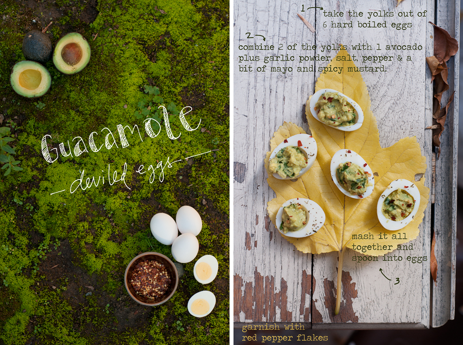 Using avocado as a base makes these deviled eggs a little healthier and (I think) a lot tastier. Terrific party food!