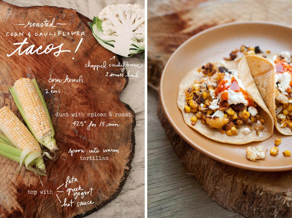 Corn & Cauliflower Tacos