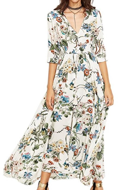 Milumia White Floral Dress