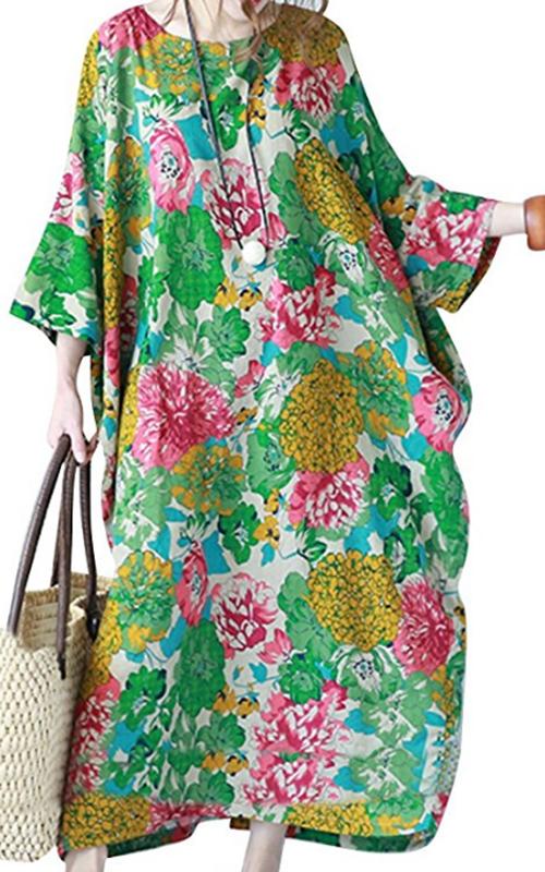 YesNo Floral Caftan Dress