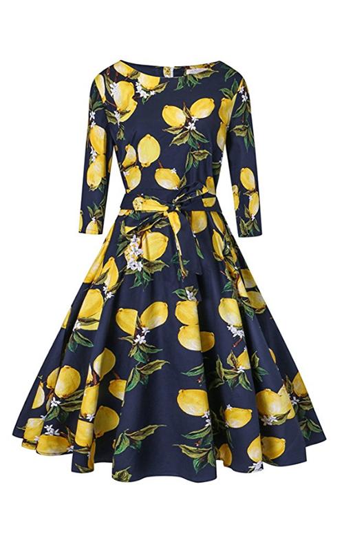 Vogtage Retro Lemon Dress