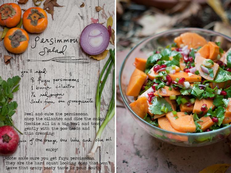 Persimmon Salad ...also good with Avocado!