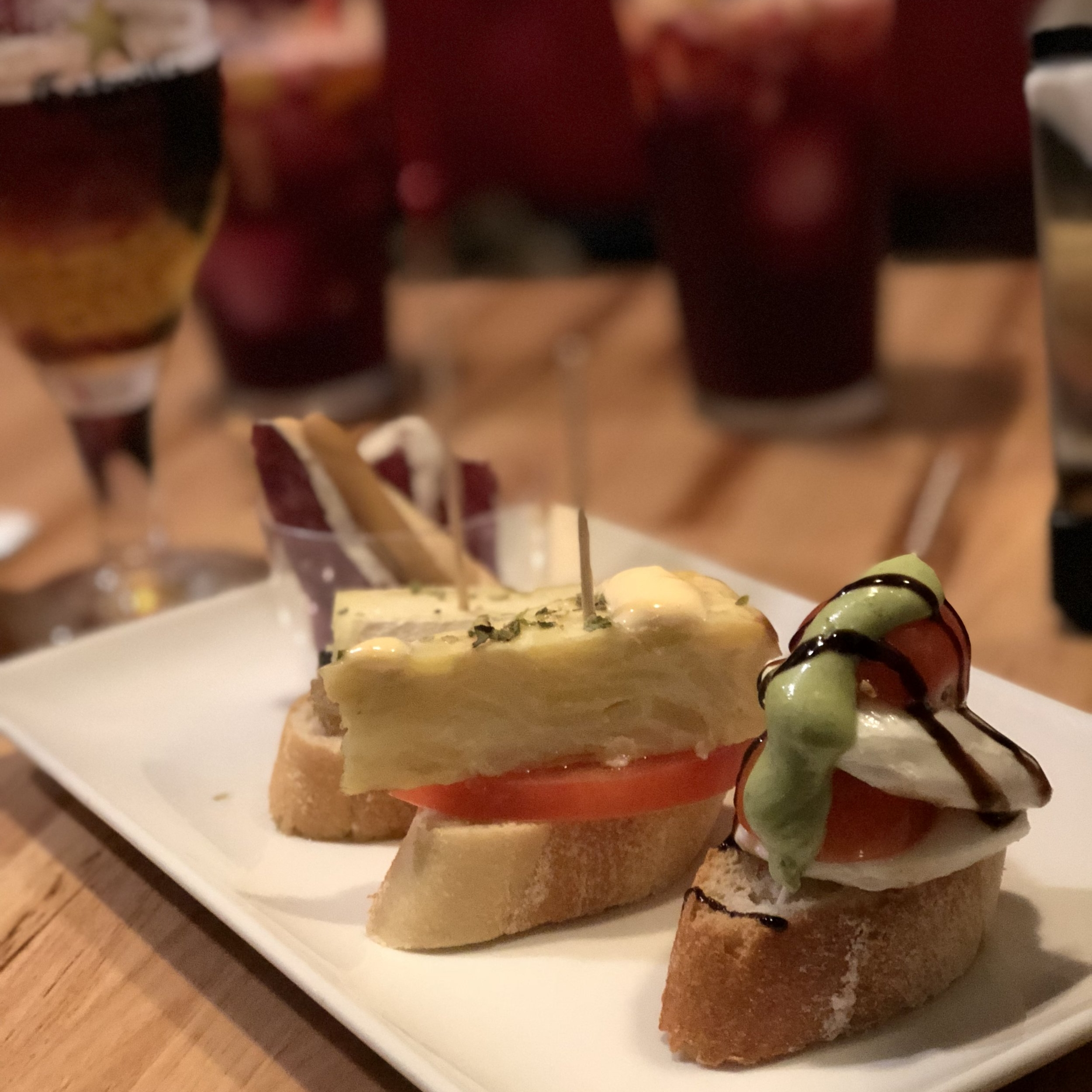 Pintxos (tapas that you pay for by the toothpick)