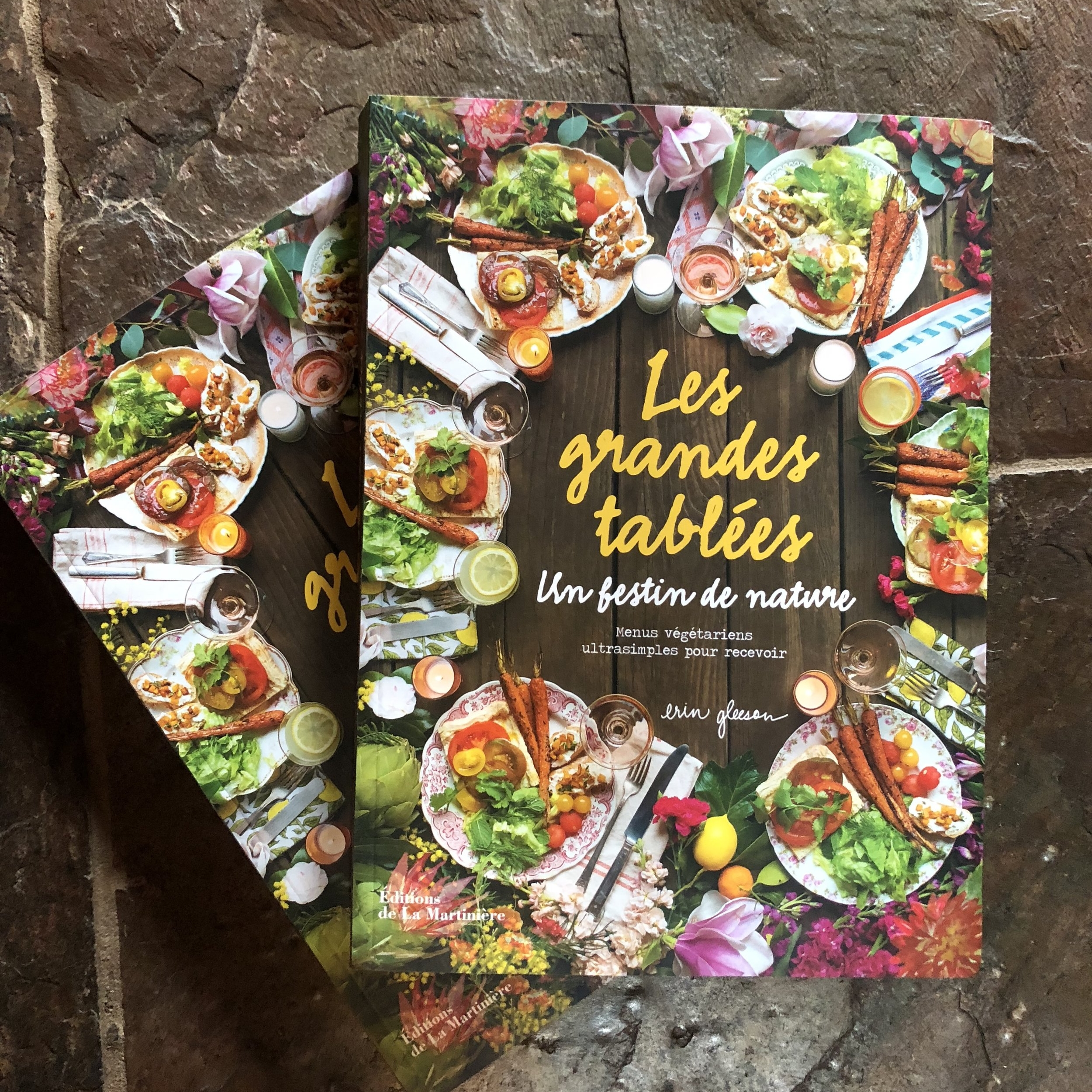 *Just yesterday* a copy of The Forest Feast Gatherings in French arrived, so excited to see it!