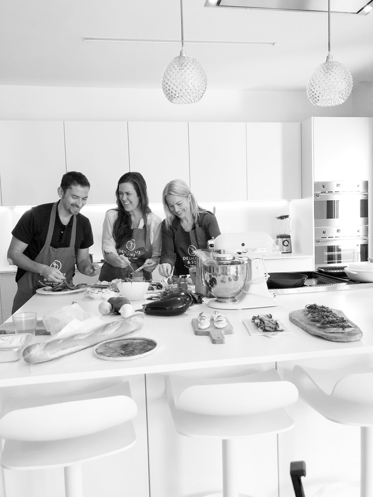 So fun cooking together in this kitchen!