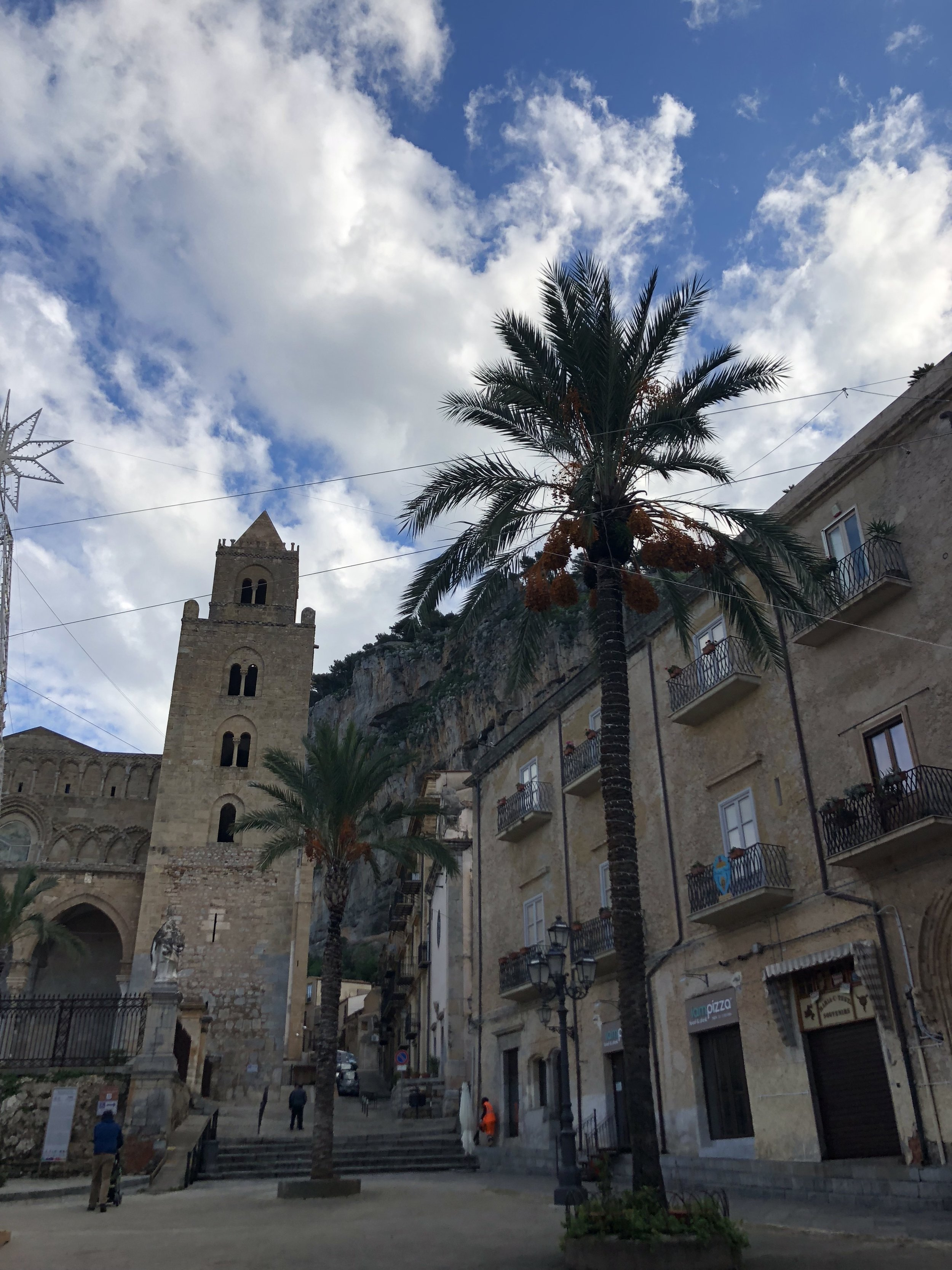 The historic area of Cefalu.