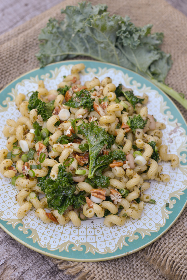 Curly Kale & Curly Pasta Salad