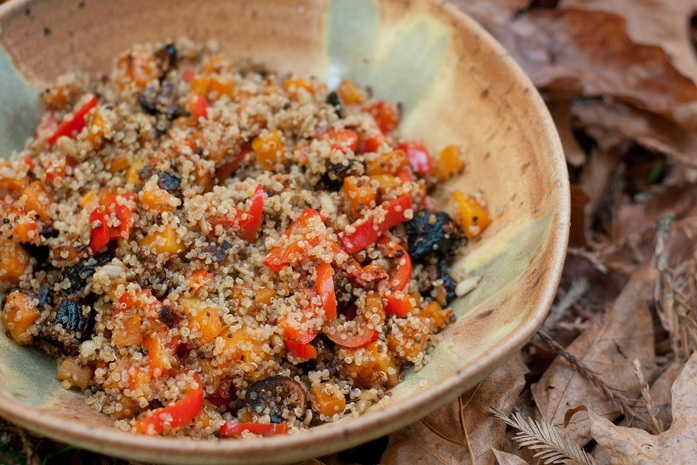 Quinoa with Squash, Peppers & Figs