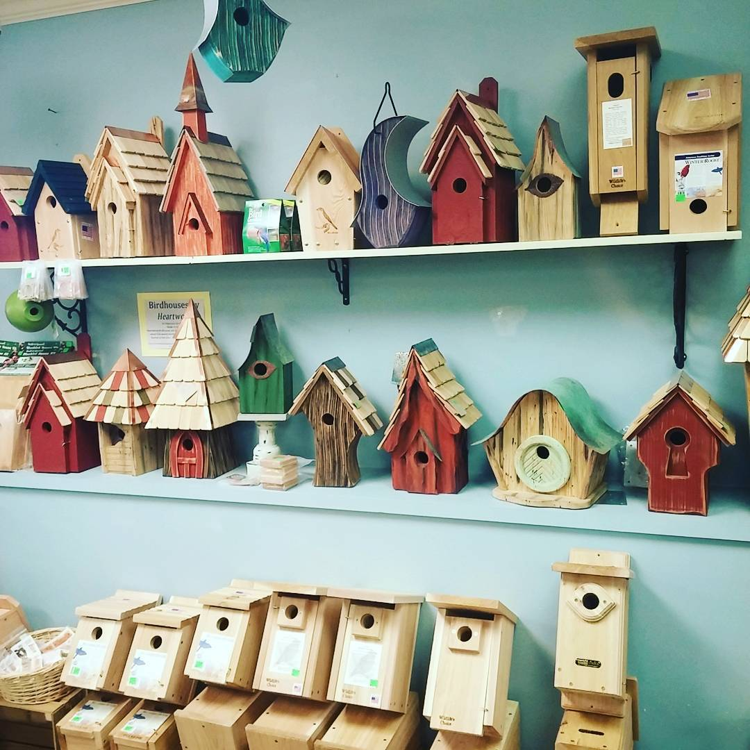 Nesting Boxes for Bluebirds, Chickadees, Wrens, Screech owls, Ducks, and we even have Bat Houses.