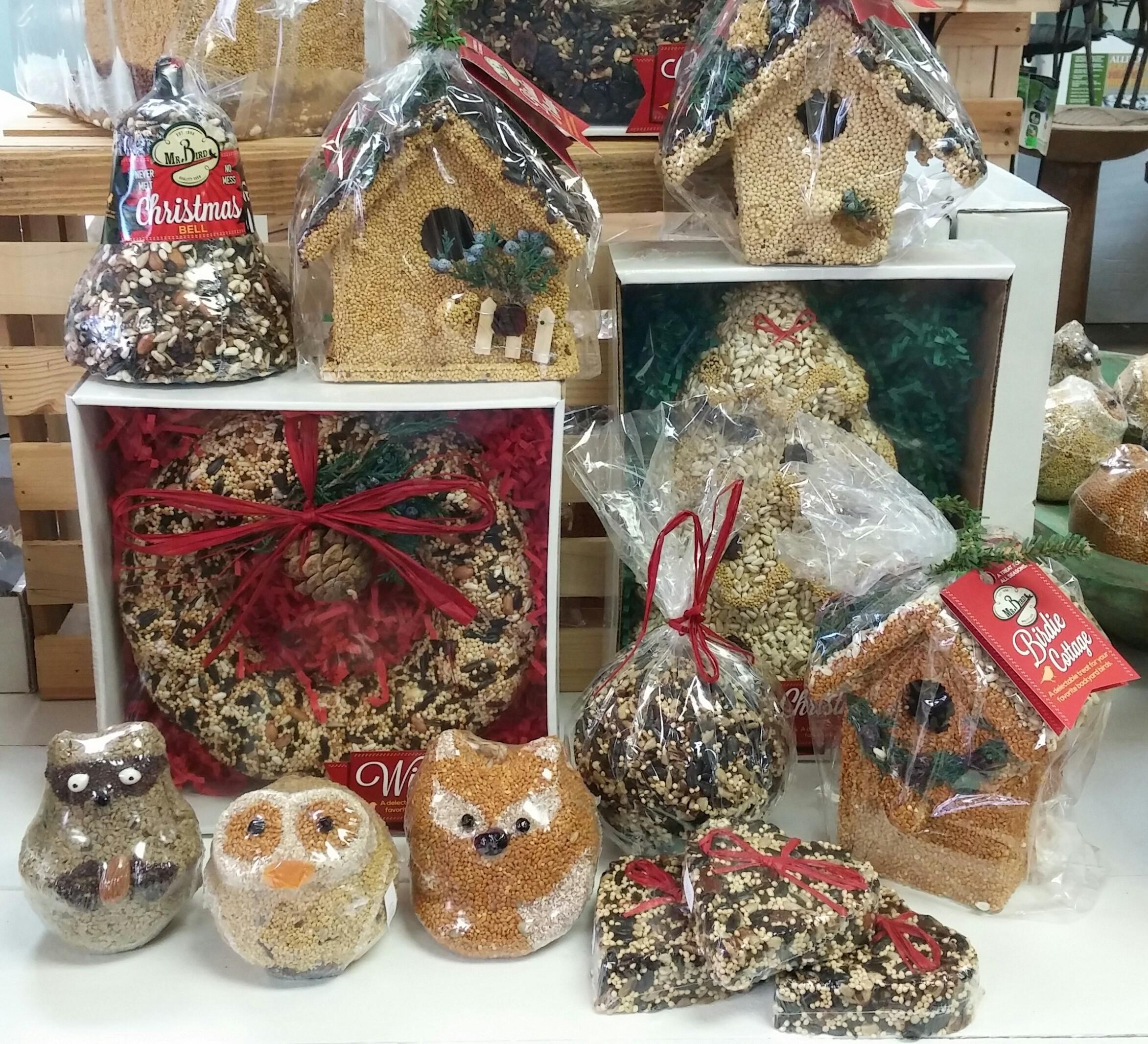 Mr Bird Seed ornaments.