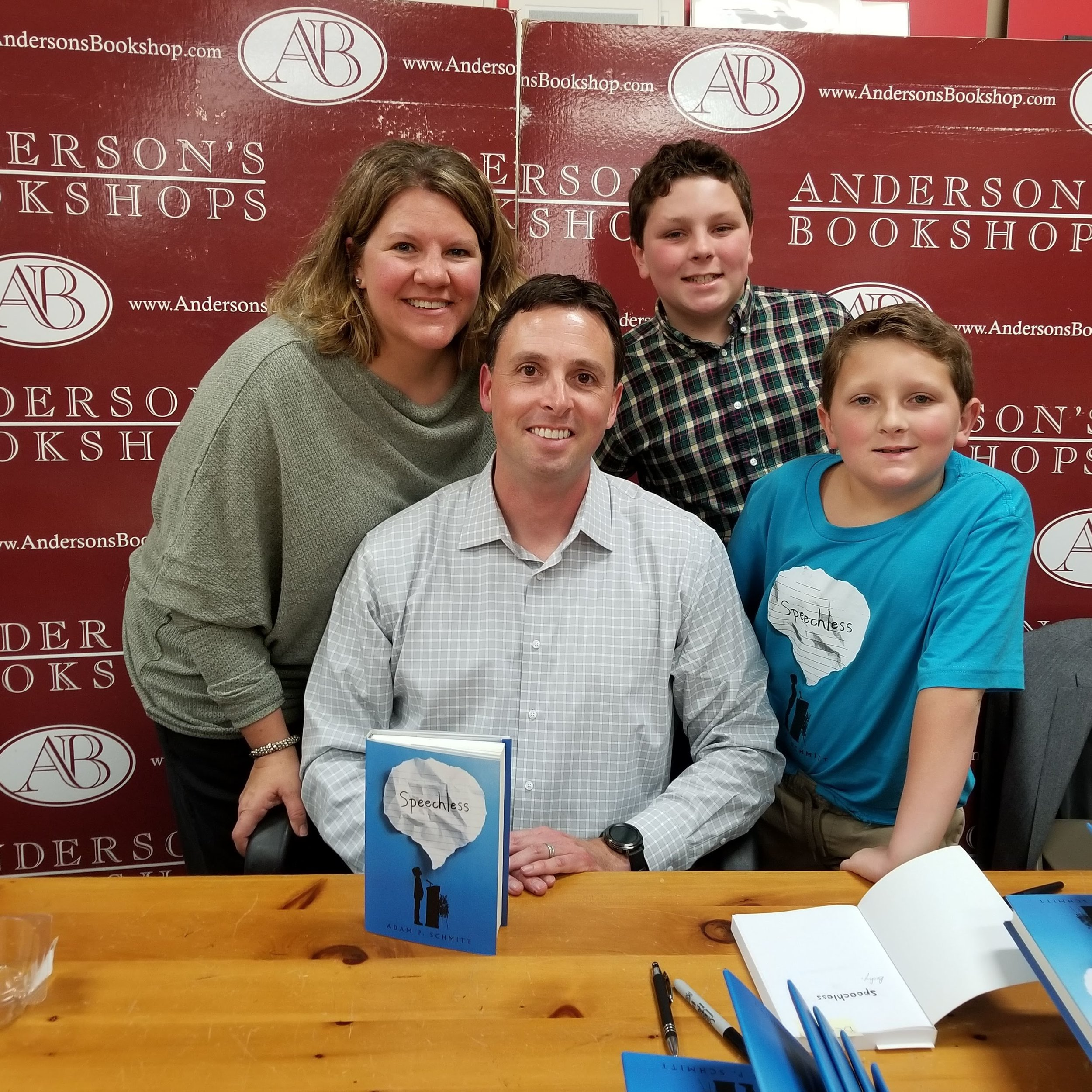 My fantastic family the Anderson's launch event!