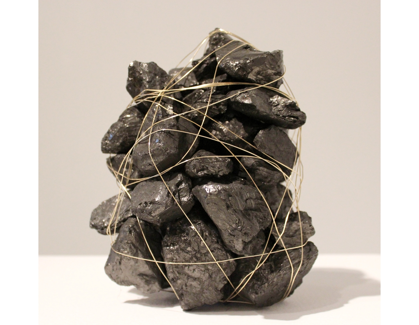 Begging Things to Love You, 2013 Coal, wire 7 x 8 ¾ x 5 ½ inches