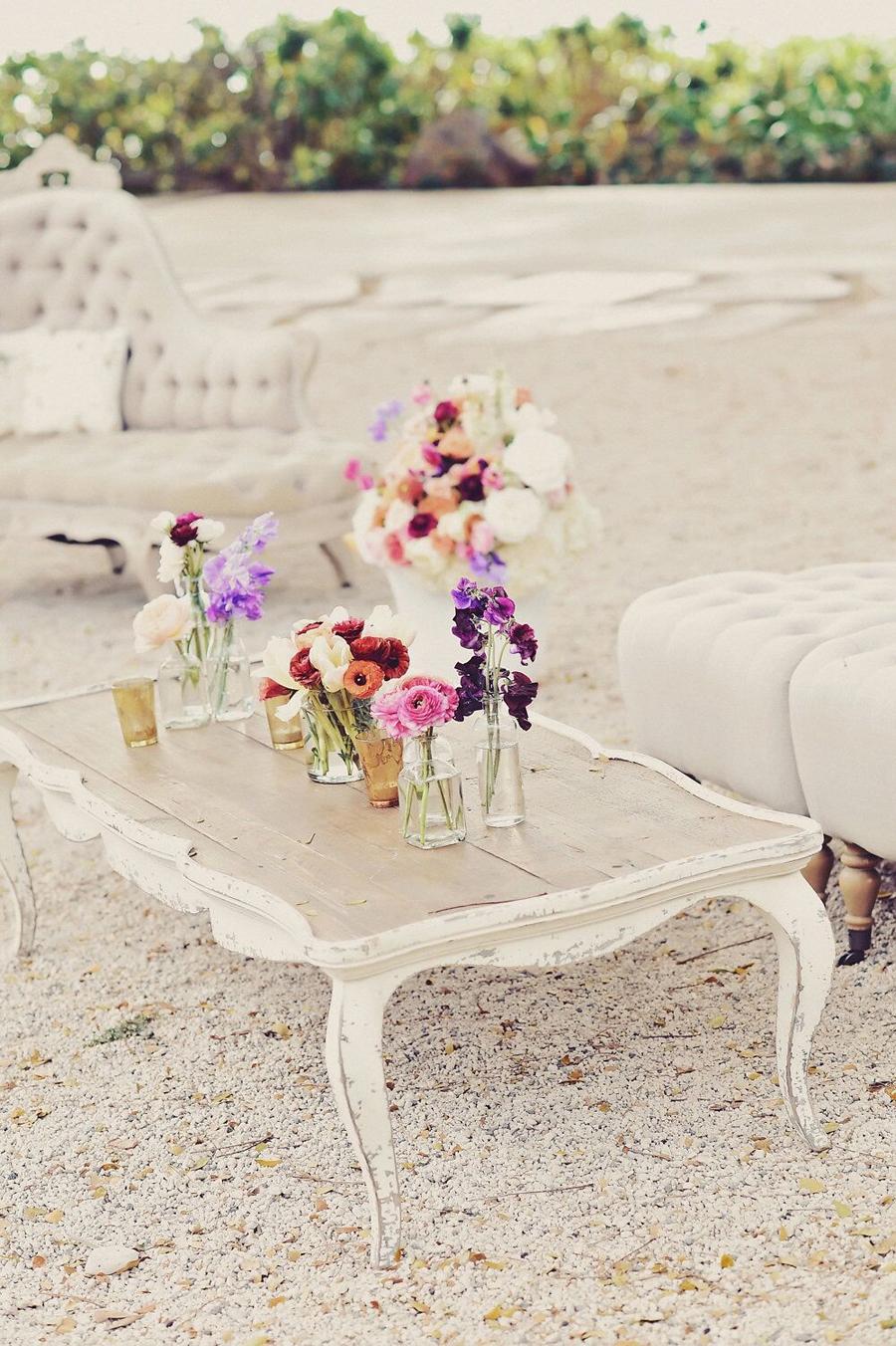 Seating Vignette, Floral Design, Hawaii, Maui