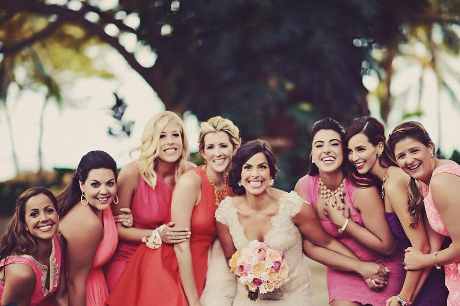 Bride, Bridesmaids, Bridal Party, Wedding, Hawaii, Maui