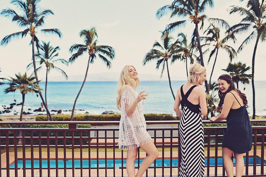 Bridesmaid, Bridesmaids, Palm Tree, Hawaii