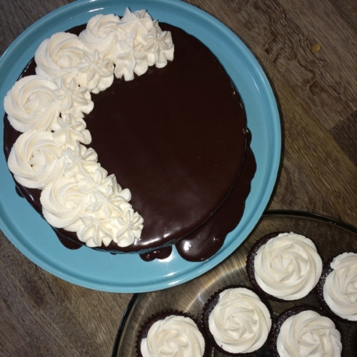 Sneaking in a celebration! - Amidst all the chaos, my oldest son turned 18! We made him a delicious gluten-free chocolate ganache cake with matching cupcakes and had a small birthday party!