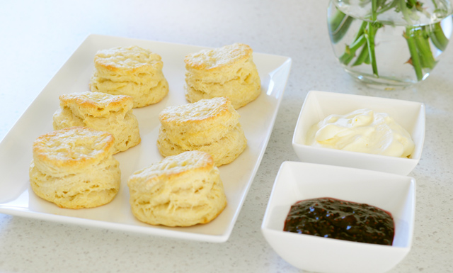 Scones with Jam and whipped cream