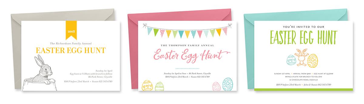 Printable Easter Invitations by TumbleweedPress.Co