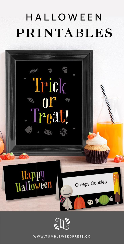Halloween Printables by www.tumbleweedpress.co