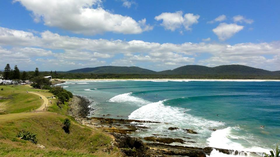 Crescent Head Point is famous for it's right hand wave, which peels for up to 400 meters in perfect conditions. Pic credit: visitingnsw.com