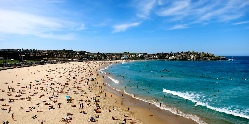 Spectacular Bondi Beach - tourist mecca and must-visit location. Pic credit: Wise Monkeys Abroad
