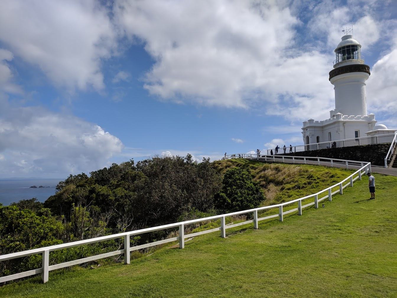 Cape Byron Lighthouse - Cape Byron Lighthouse is the Eastern-most point of Australia. It is 23m in height and opened in 1901, with another unique element being that it has a castle-looking building at its base. Positioned high atop a cliff on our eastern boundary, it is probably the best place to view migrating whales during visits from May to November.