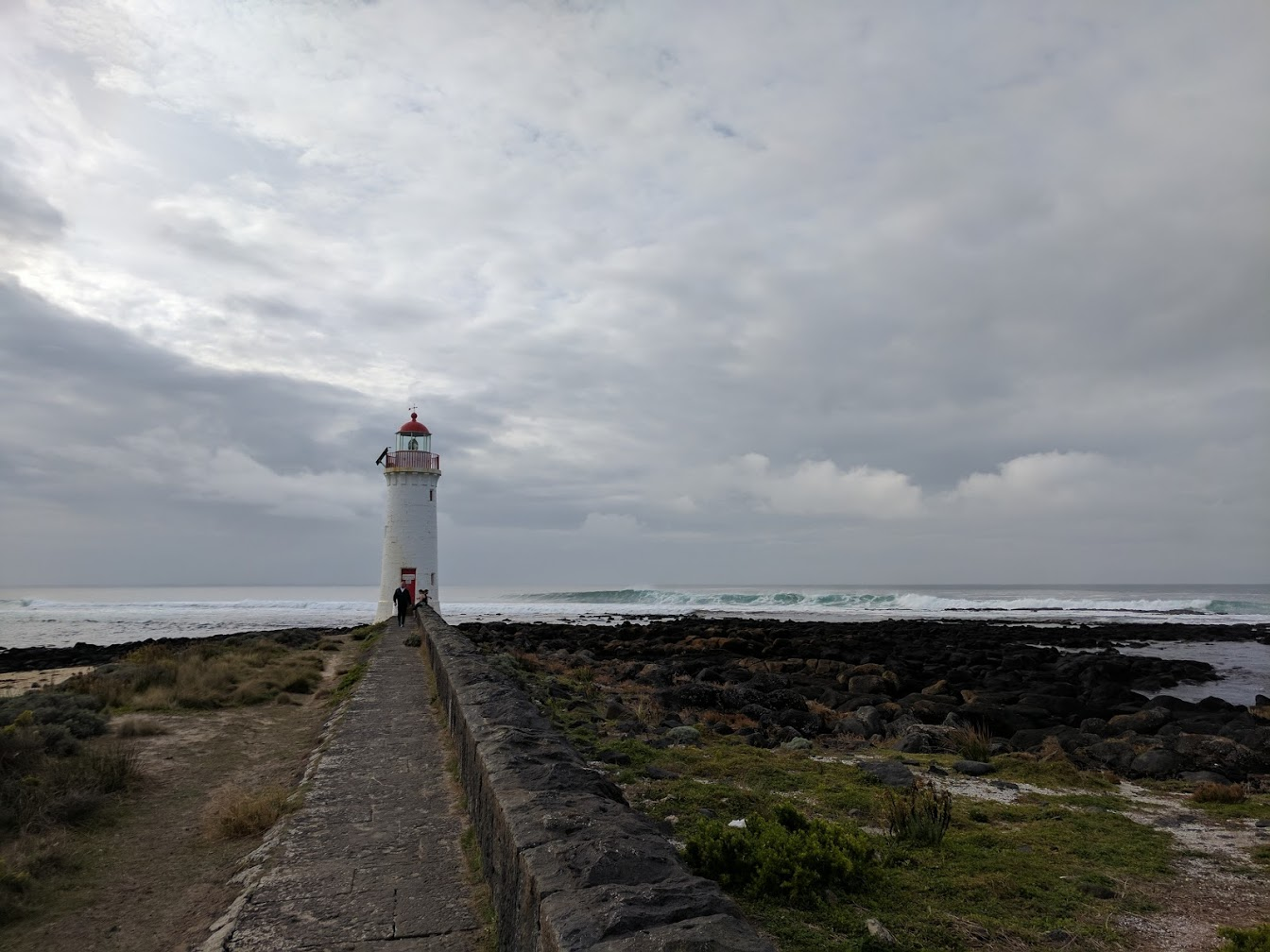 Port Fairy Lighthouse - Situated on Griffith Island, it is by no means Australia's tallest at only 12.5 metres tall. To get there you have to walk for around ten minutes and there is a great surf break at the lighthouse (no points given to those who can guess the name of this wave).