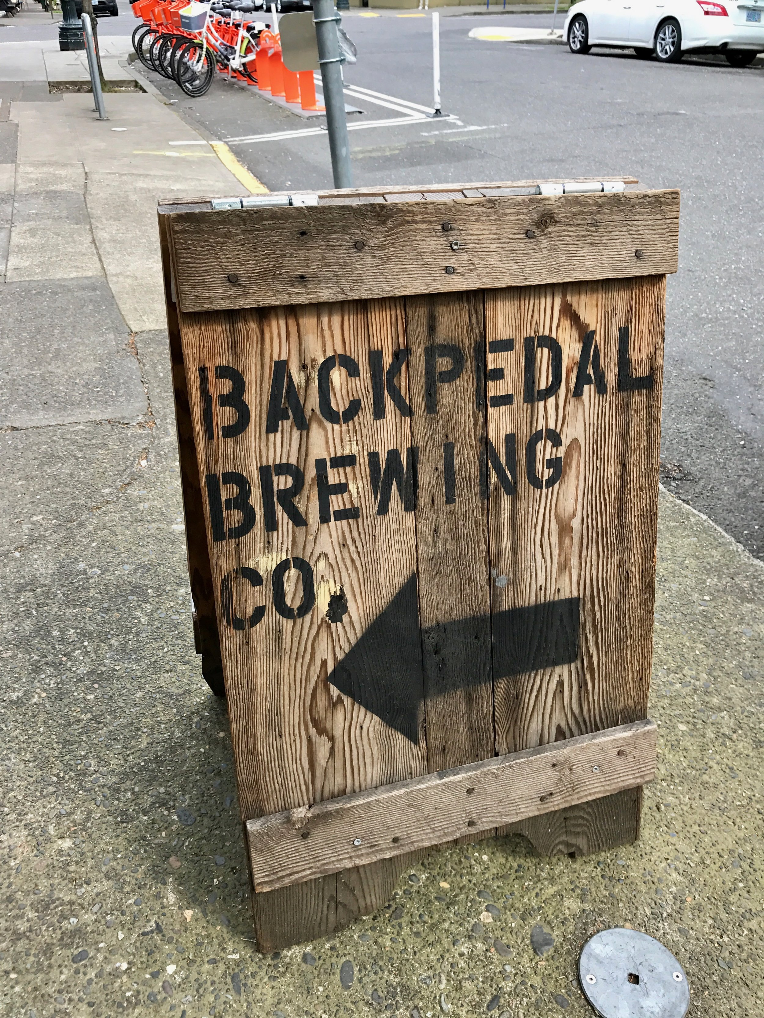 Back Pedal Brewing Sign