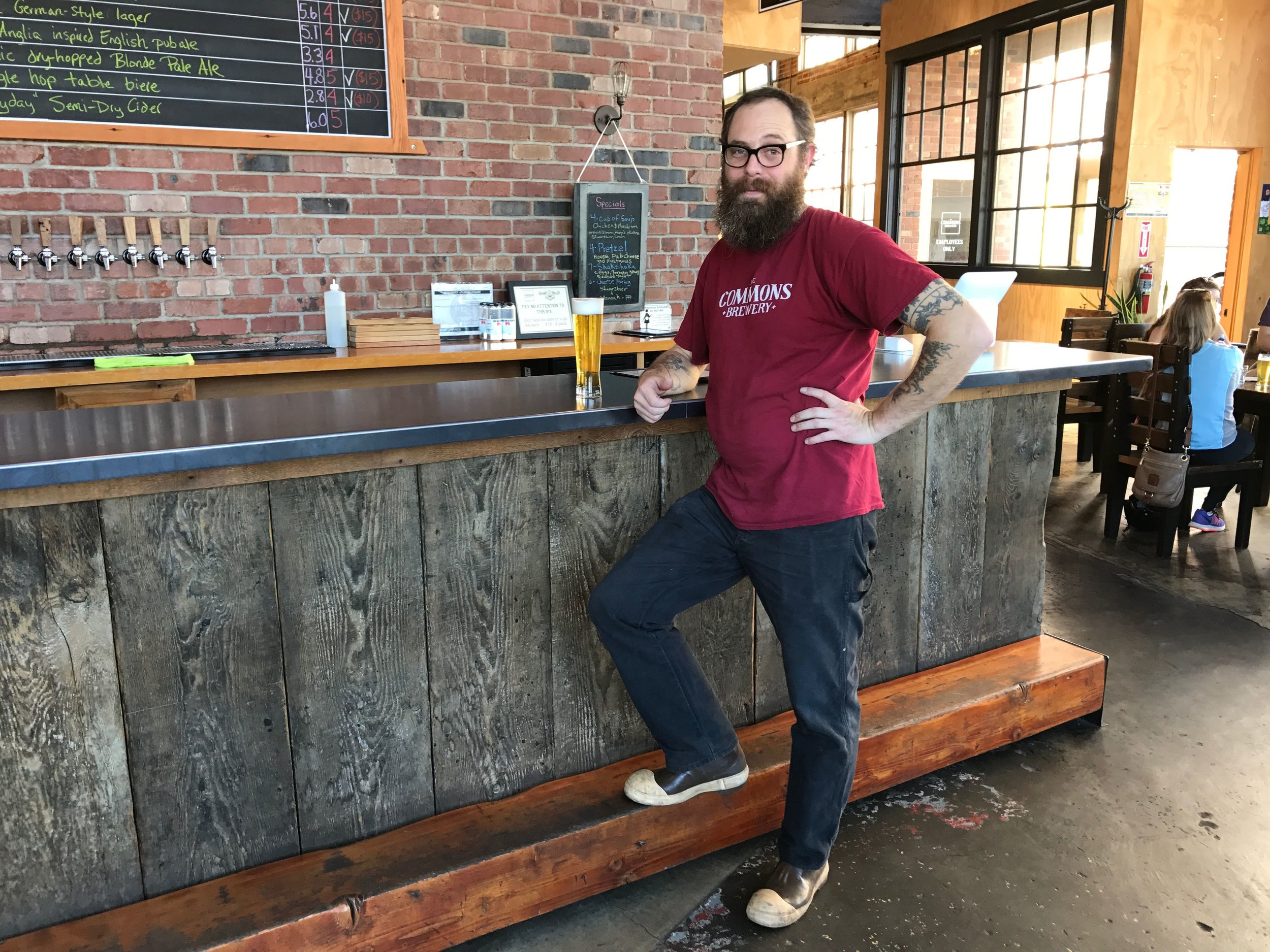 Sean Burke doing his best Captain Morgan pose at the Commons Brewery.