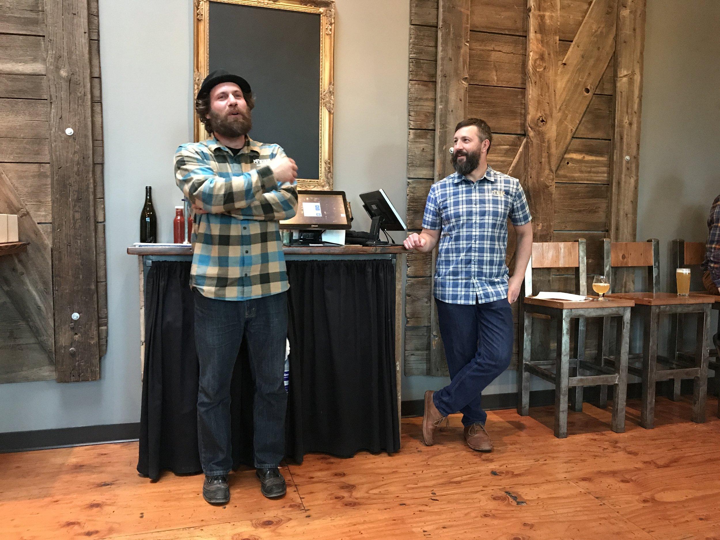Matt Kotwasinski and Josh Pfriem of pFriem Family Brewers