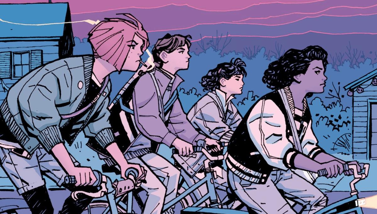 PAPER GIRLS WRITTEN BY BRIAN K VAUGHN ILLUSTRATED BY CLIFF CHIANG