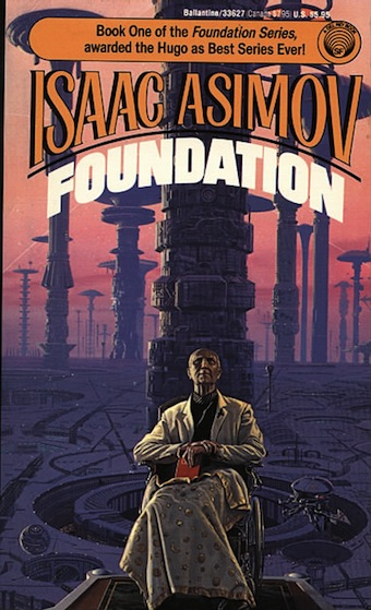 FOUNDATION BY ISAAC ASIMOV  COVER ILLUSTRATION BY MICHAEL WHALEN