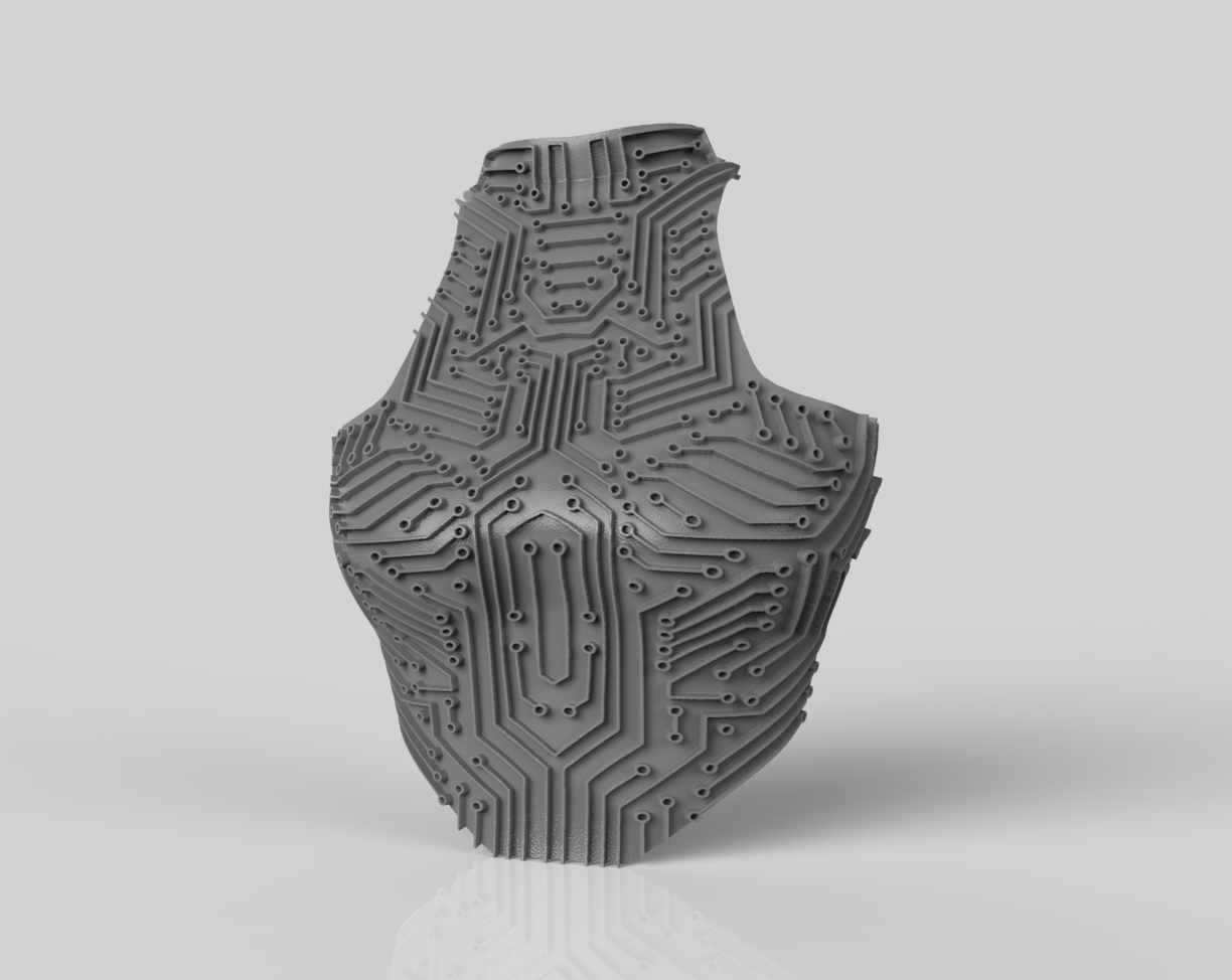 Chest Plate 3D Rendering