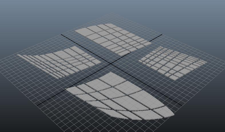 3D pattern pieces in Autodesk Maya