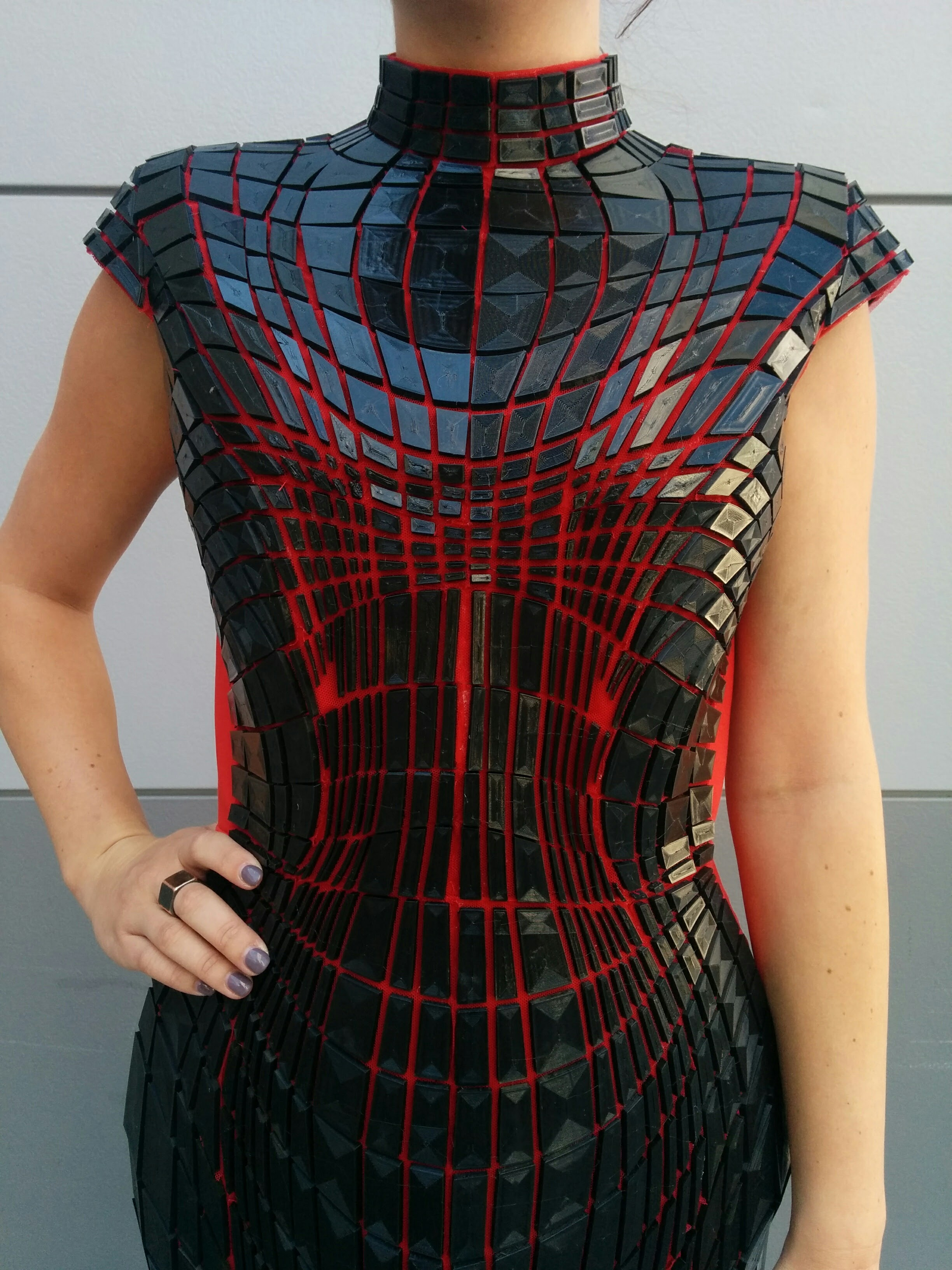Final total pattern of the dress