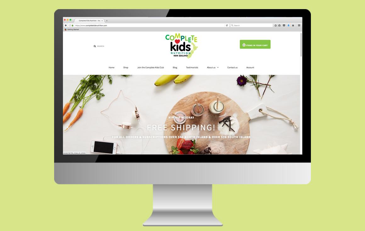 Complete Kids Nutrition Shopify Website
