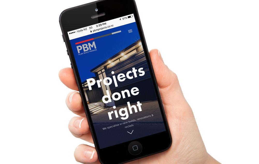 PBM Projects website