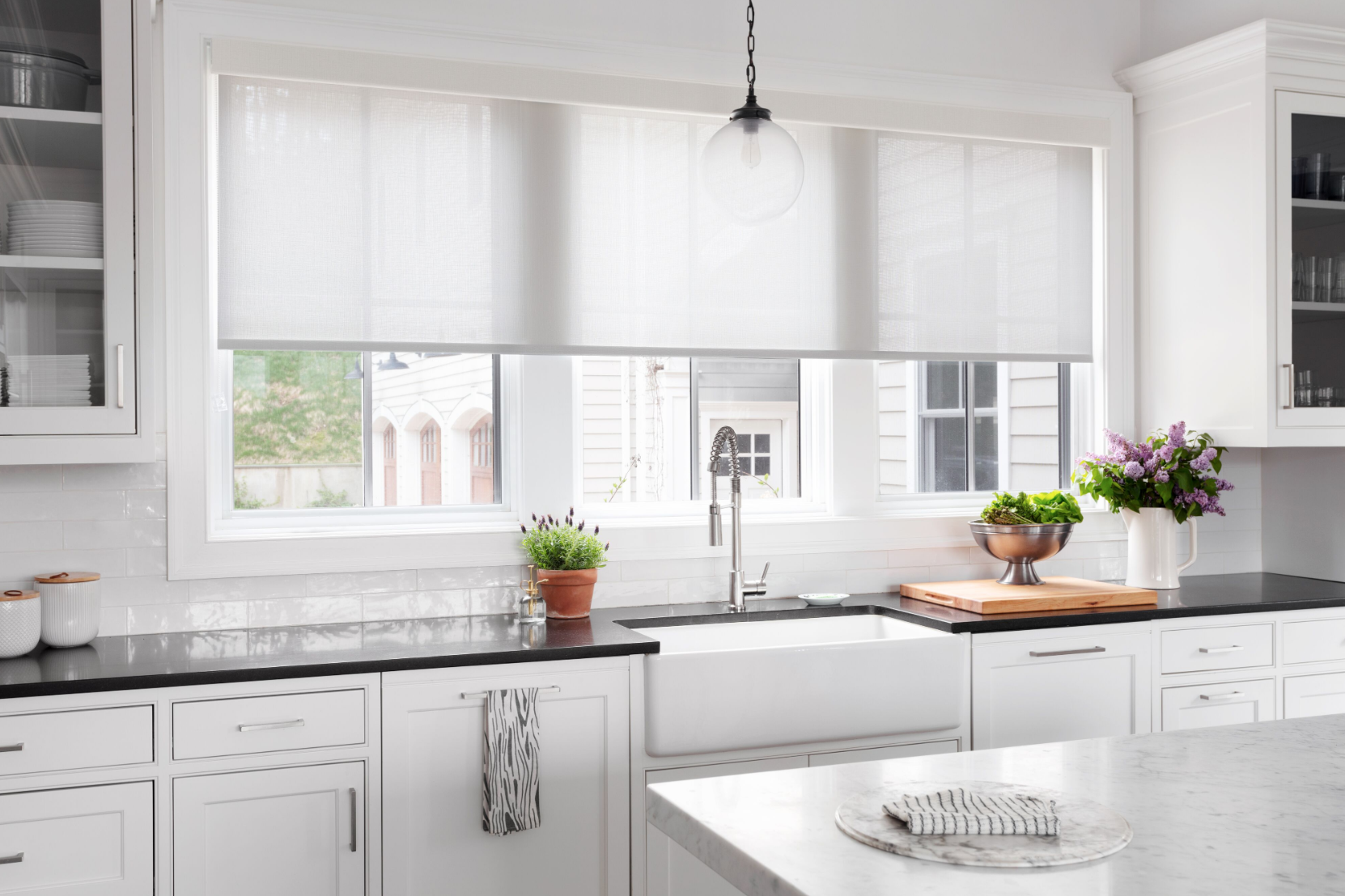 A recent Blinds To Go shoot in a beautiful home! Photographer Rick Lew