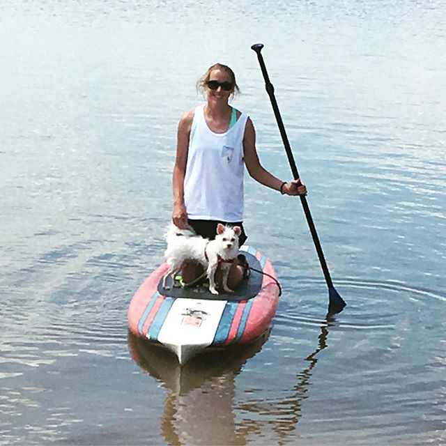Even dogs love to paddle board!! Bring your furry friend and grab a board for a fun day on the lake! Open until 6!