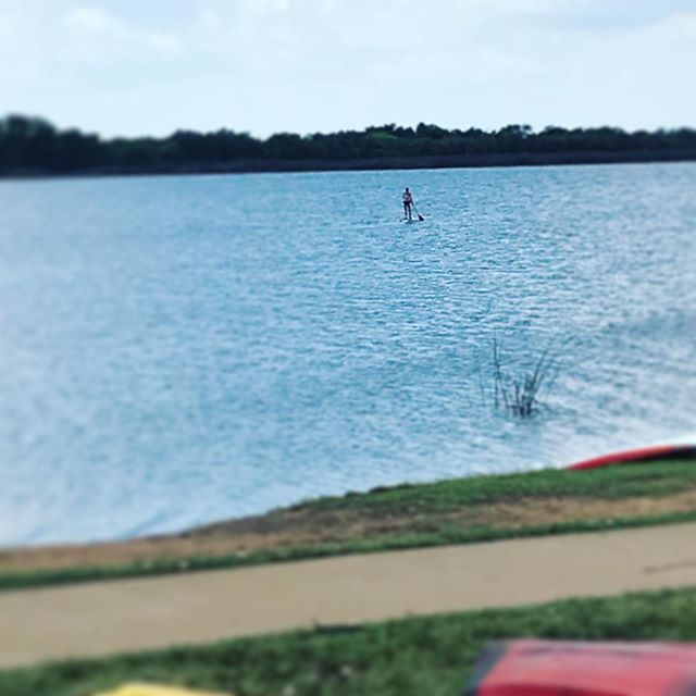 Mrs SUPWF going for her favorite paddle! #supatx #paddleboarding #lakewichita #wichitafalls