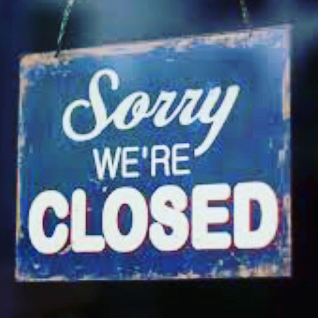 Friendly reminder that are closed this weekend. We have a long planned family get together this weekend and will be out of town.