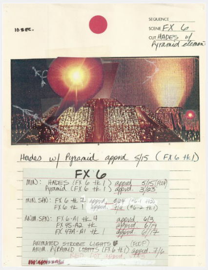 'Blade Runner' storyboard sketch, via  FlavorWire .