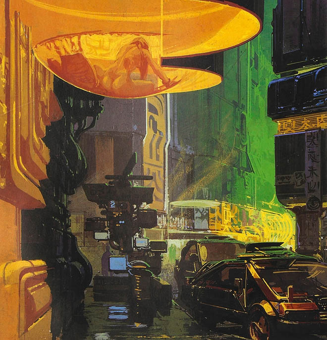 Syd Mead's concept art for 'Blade Runner,' via  Wired .