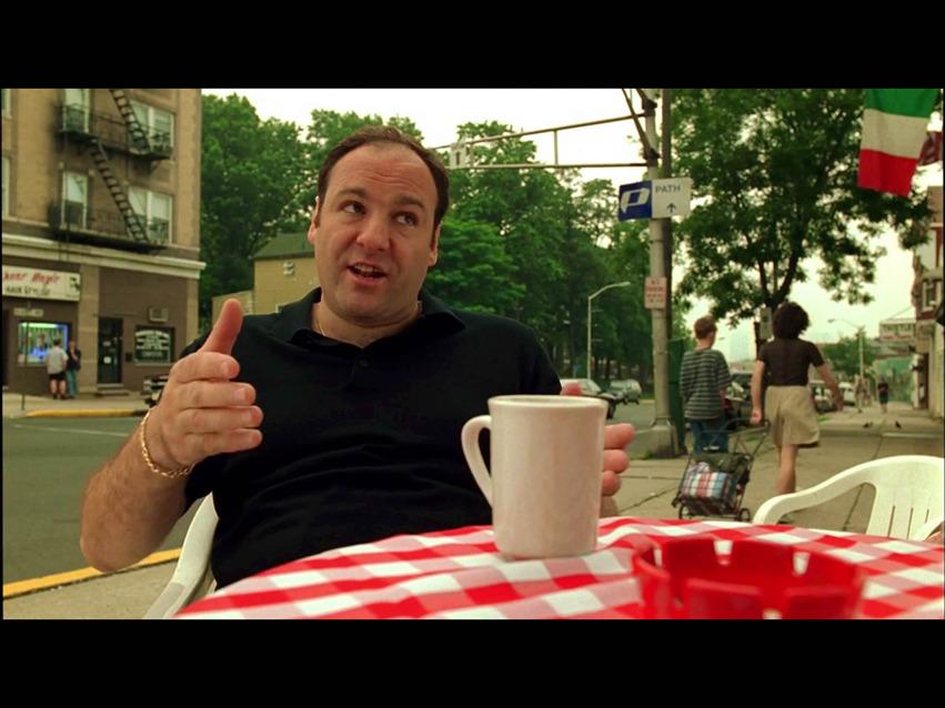 T and coffee. Screencap: JG.