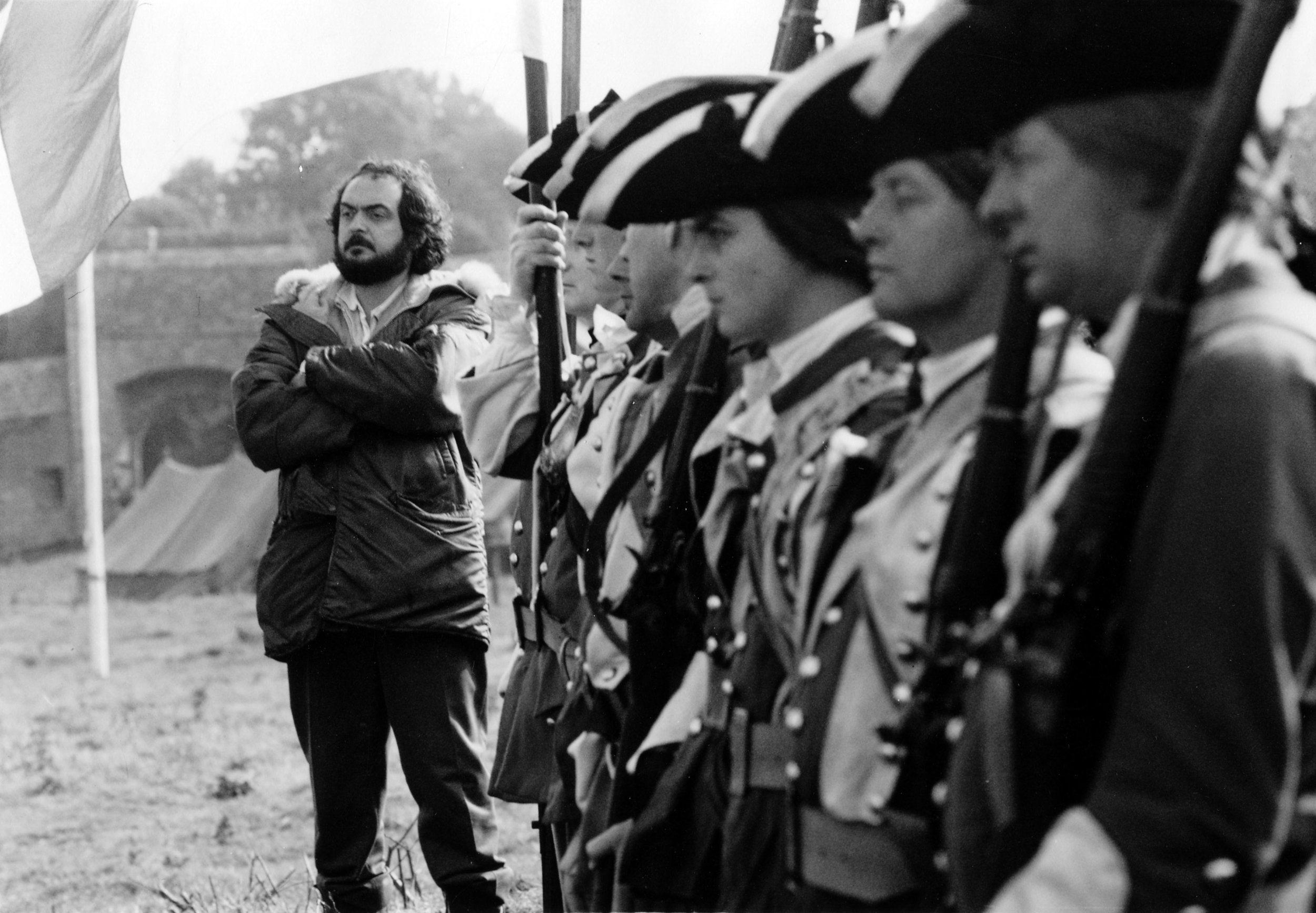 Stanley Kubrick on set, 'Barry Lyndon.' Image via Scraps from the loft.