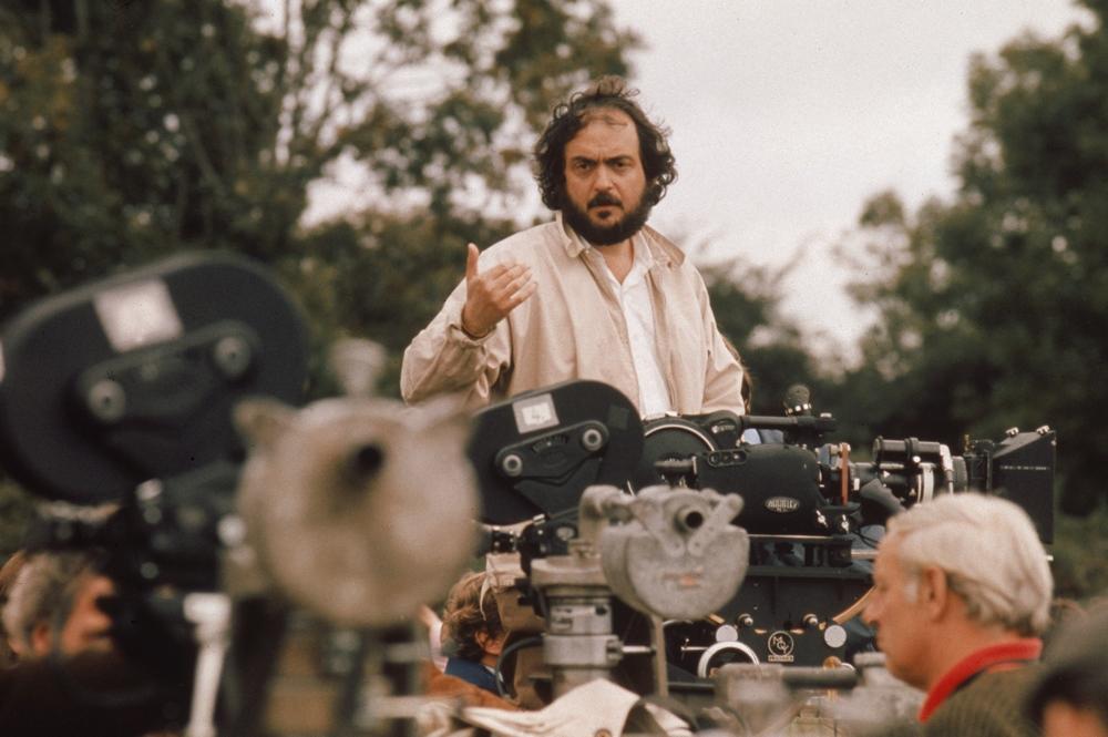 Stanley Kubrick on set, 'Barry Lyndon.' Image via  Port Magazine .